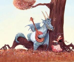 Rompicapo di Dragon cantato una canzone con la principessa