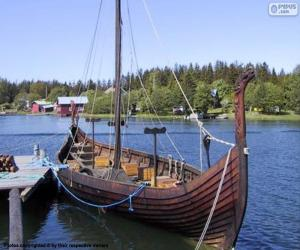 Rompicapo di Drakkar o nave vichinga