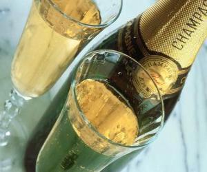Rompicapo di Due bicchieri di champagne