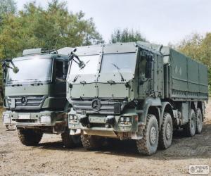 Rompicapo di Due camion militari