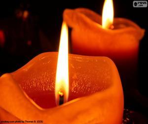 Rompicapo di Due candele di Natale