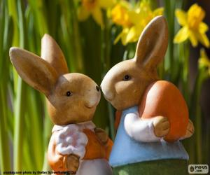 Rompicapo di Due conigli di Pasqua