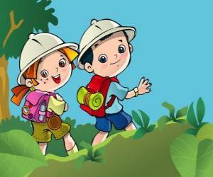 Rompicapo di Due giovani esploratori in una spedizione