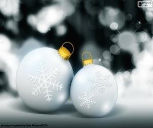 Rompicapo di Due palline bianche Natale