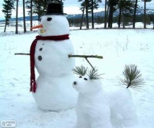 Rompicapo di Due pupazzi di neve