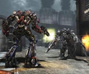 Rompicapo di Due roboti trasformers