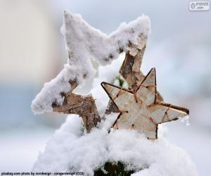 Rompicapo di Due stelle con neve