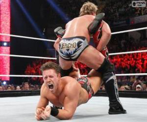 Rompicapo di Due wrestler professionisti in combattimento