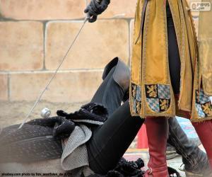 Rompicapo di Duello tra cavalieri medievali