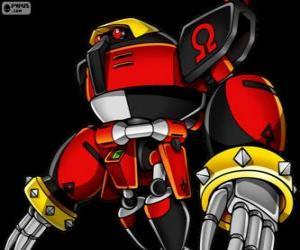 Rompicapo di E-123 Omega, robot creato dal doctor Eggman