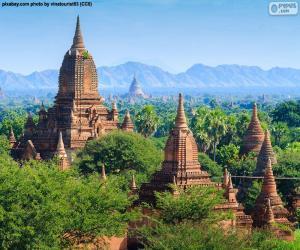 Rompicapo di Edifici religiosi di Bagan, Myanmar