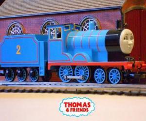 Rompicapo di Edward, la locomotiva in blu è il numero 2