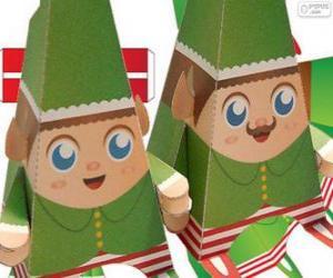 Rompicapo di Elfi di Natale di carta