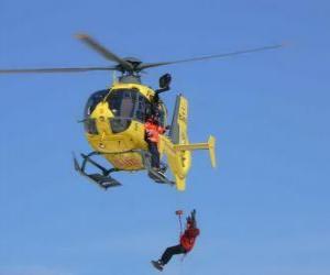 Rompicapo di elicottero di emergenza