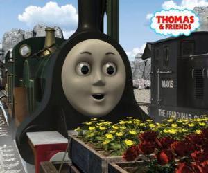 Rompicapo di Emily, la locomotiva verde smeraldo è il membro piu novo del team delle locomotive a vapore