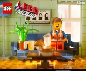 Rompicapo di Emmet, il protagonista del film Lego