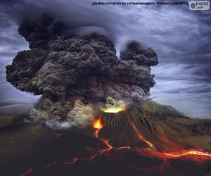 Rompicapo di Eruzione vulcanica