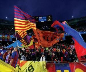 Rompicapo di F. C. Barcelona bandiera