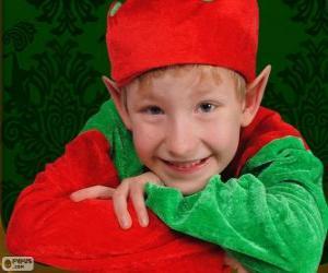 Rompicapo di Faccia di un elfo di Natale