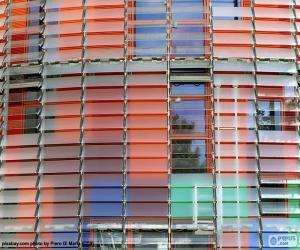 Rompicapo di Facciata Torre Agbar, Barcellona