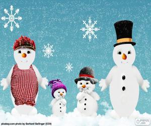 Rompicapo di Famiglia bambole di neve