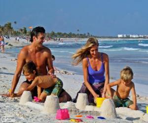 Rompicapo di Famiglia in spiaggia