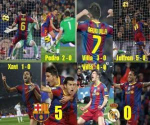Rompicapo di FC Barcellona 5 Real Madrid 0