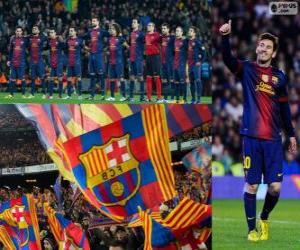 Rompicapo di FC Barcelona, campione 12-13