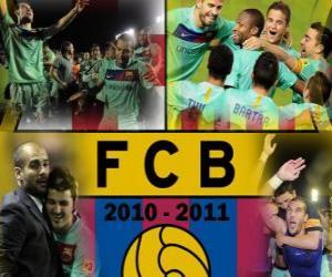 Rompicapo di FC Barcelona campione del BBVA League 2010 - 2011
