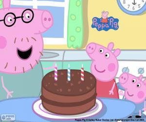 Rompicapo di Felice anniversario Peppa Pig
