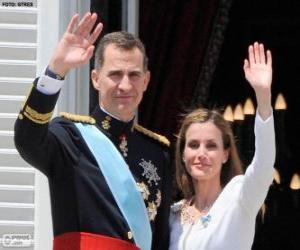 Rompicapo di Felipe e Leticia nuovo re di Spagna (2014)