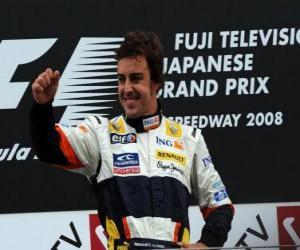 Rompicapo di Fernando Alonso nel pódium