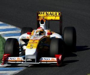 Rompicapo di Fernando Alonso pilota il F1