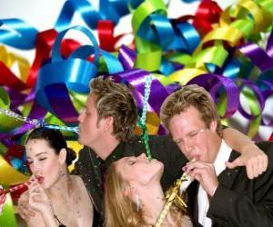 Rompicapo di Festa dell'anno nuovo.
