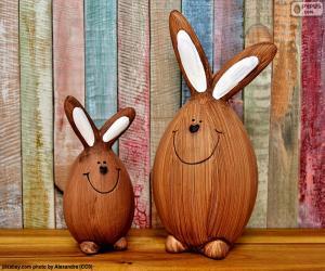 Rompicapo di Figure di conigli di Pasqua