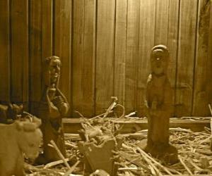 Rompicapo di figurine Natività e presepe in legno