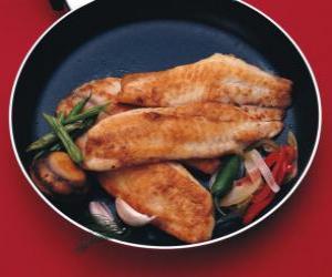 Rompicapo di Filetto di pesce al piatto