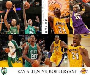 Rompicapo di Finale NBA 2009-10, Guardia tiratrice, Ray Allen (Celtics) vs Kobe Bryant (Lakers)