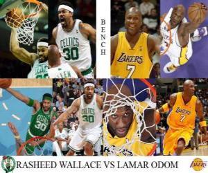 Rompicapo di Finale NBA 2009-10, prenotazioni, Rasheed Wallace (Celtics) vs Lamar Odom (Lakers)