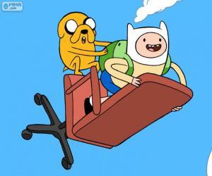 Rompicapo di Finn e Jake volare