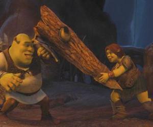 Rompicapo di Fiona, il guerriero, insieme a Shrek