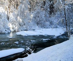 Rompicapo di Fiume in inverno