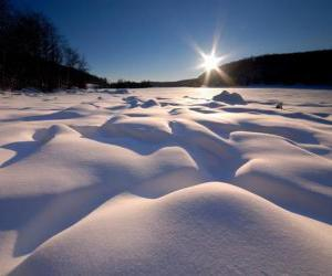 Rompicapo di Forme sinuose nel lago Eagle Ontario, Canada