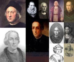 Rompicapo di Foto di Cristoforo Colombo è stato l'ammiraglio a capo della spedizione che venne in America nel 1492