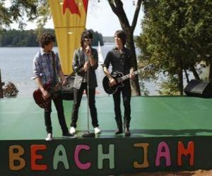 Rompicapo di Fratelli Shane (Joe Jonas), Nate (Nick Jonas) e Jason Gray (Kevin Jonas) canto presso il Jam Camp Rock Beach