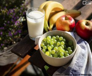 Rompicapo di Frutta e latte