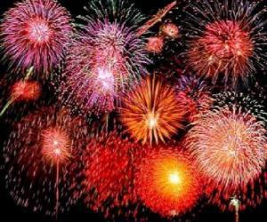 Rompicapo di Fuochi d'artificio per la celebrazione del Capodanno