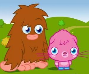 Rompicapo di Furi e Poppet, due mostri divertente da Moshi Monsters