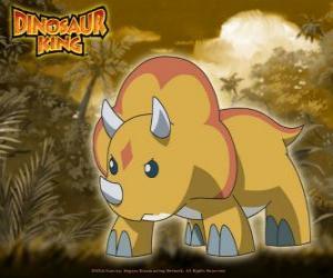 Rompicapo di Gabu, Chomp, il dinosauro più forte della squadra-D, il triceratopo da Dinosaur King