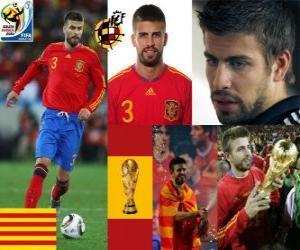 Rompicapo di Gerard Pique (Il dandy della Spagna) difesa team spagnolo